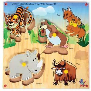 skillofun junior identification tray wild animals ii tiger