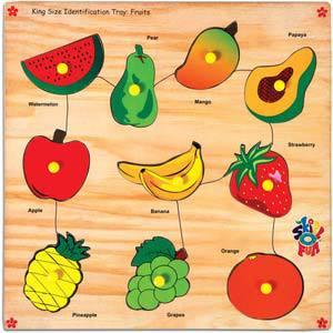 skillofun king size identification tray fruits
