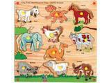 Skillofun King Size Identification Tray - Useful Animals