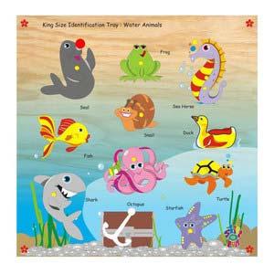 skillofun king size identification tray water animals