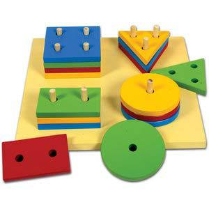 skillofun large shape sorter board 4 shapes