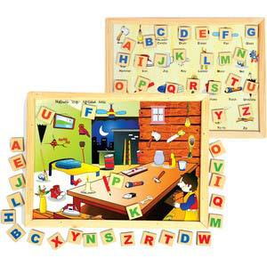 skillofun magnetic twin play tray alphabet attic