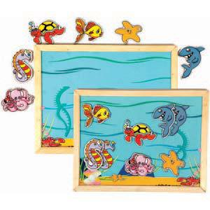 skillofun magnetic twin play tray deep sea
