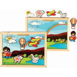 skillofun magnetic twin play tray rainbow scene