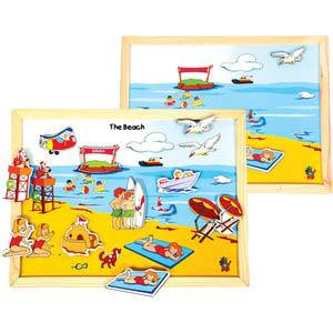 skillofun magnetic twin play tray the beach