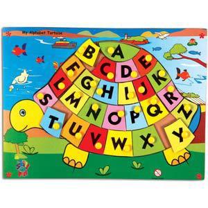skillofun my alphabet tortoise with knobs capital abc