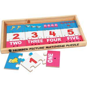 skillofun number picture matching puzzle strips