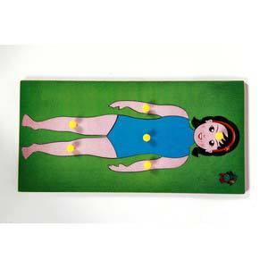 skillofun parts of body tray girl
