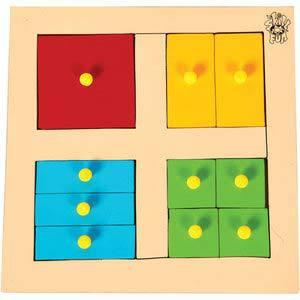 skillofun parts of square tray with knobs