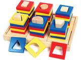 Skillofun Shape  Cavity Sorting Towers  (6 towers)(Group Activity)
