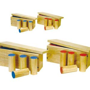skillofun sound boxes 2 sets of wooden cylinders
