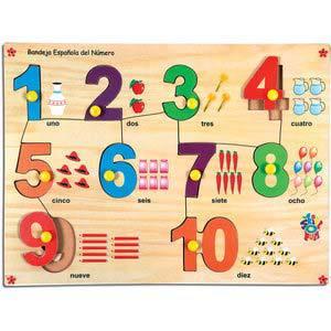 skillofun spanish number picture tray 1 10