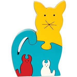 skillofun take apart puzzle cat family