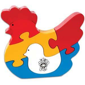 skillofun take apart puzzle hen chick