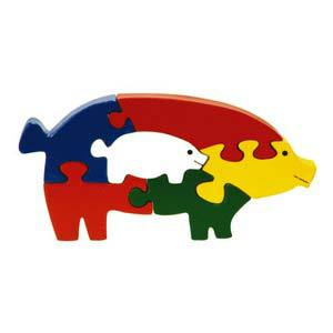 skillofun take apart puzzle pig