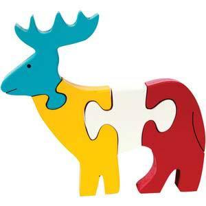 skillofun take apart puzzle reindeer