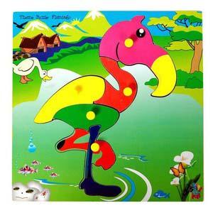 skillofun theme puzzle standard flamingo