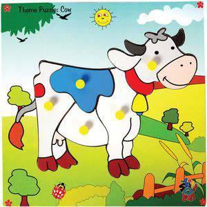 skillofun theme puzzle standard jersey cow