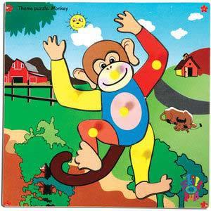 skillofun theme puzzle standard monkey
