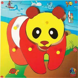 skillofun theme puzzle standard panda bear