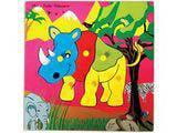 Skillofun Theme Puzzle Standard - Rhinoceros