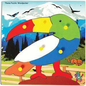 skillofun theme puzzle standard woodpecker