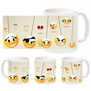 smiley faces mug