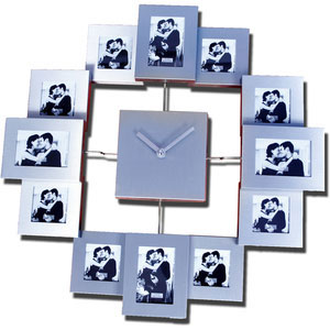 stylish photo clock to show 12 photos