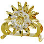 sunflower napkin holder gold plated with swarovski crystals