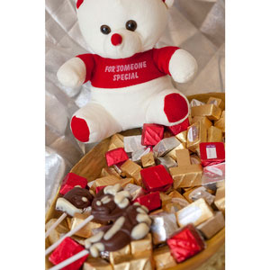 teddy bear basket premium chocolates