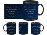 The Sky And The Stars Black Mug