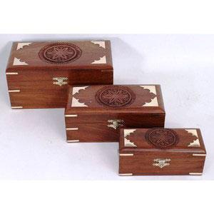 three boxes sheesham wood gift
