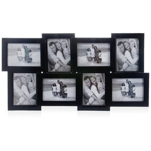 tile pattern eight picture frames black collage frame
