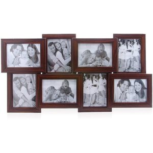 tile pattern eight picture frames brown collage frame