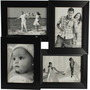 tile pattern four frames black collage frame