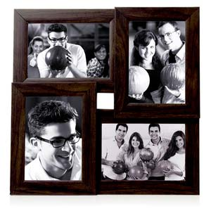 tile pattern four frames brown collage frame