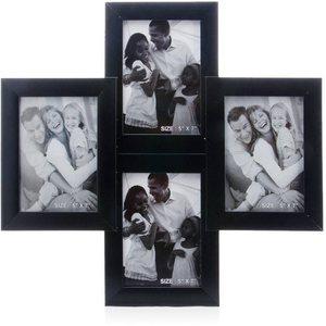 tile pattern four portait frames black collage frame