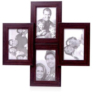 tile pattern four portrait frames brown collage frame
