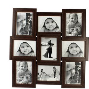 tile pattern nine picture frames brown collage frame