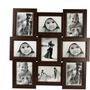 tile pattern nine picture frames brown collage frame