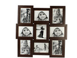 Collage Frames for Nine Pictures, Brown