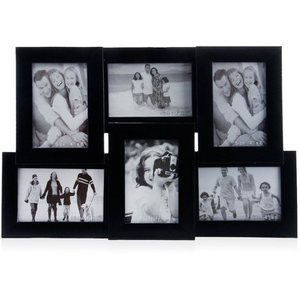 tile pattern six picture frames black collage frame