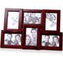tile pattern six picture frames brown collage frame