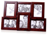 Collage Frames for Six Pictures, Brown