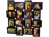 Collage Frames for Sixteen Pictures, Black