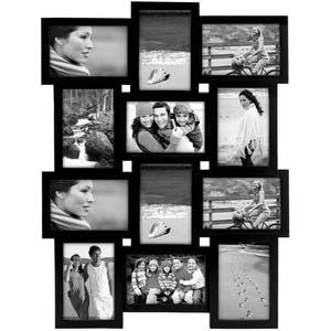 tile pattern twelve picture frames black collage frame 4x6