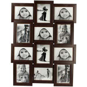 tile pattern twelve picture frames brown collage frame 4x6
