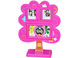 Tree Photo Frame with Clock, Pink