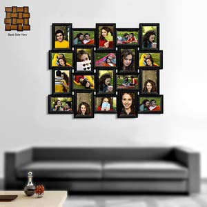 twenty photo collage frame black landscape