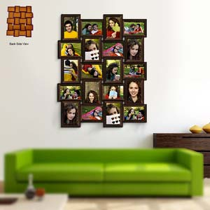 twenty photo tiled frame brown portrait